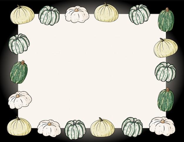 Bannière confortable mignonne automne avec des citrouilles. affiche festive d'automne