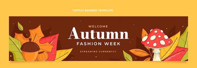 Bannière de contraction d'automne dessinée à la main