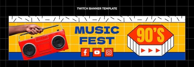 Bannière de contraction du festival de musique nostalgique des années 90