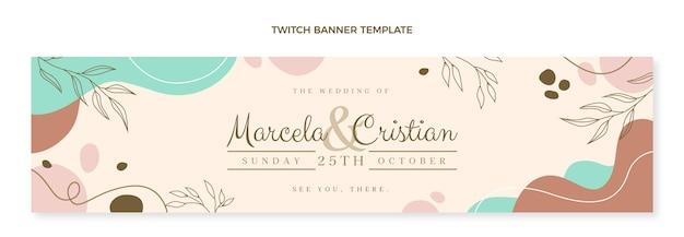 Bannière de contraction de mariage dessiné à la main