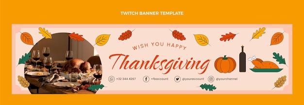Bannière de contraction de thanksgiving dessiné à la main
