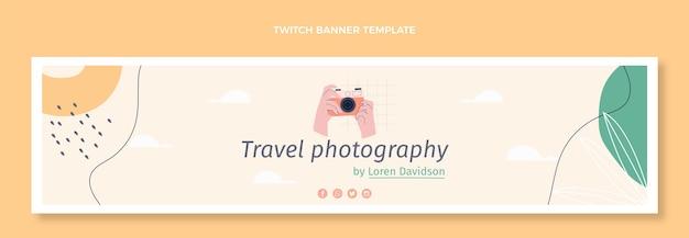 Bannière de contraction de voyage design plat