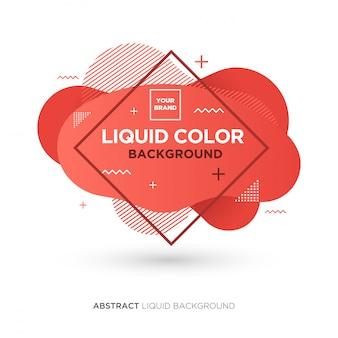 Bannière de couleur corail abstraite liquid living