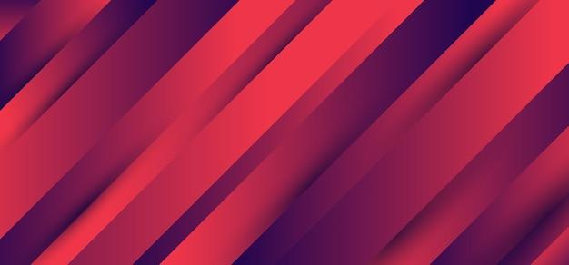 Bannière de couleur vibrante bleue et rose à rayures diagonales