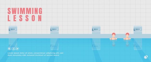 Bannière de cours de natation