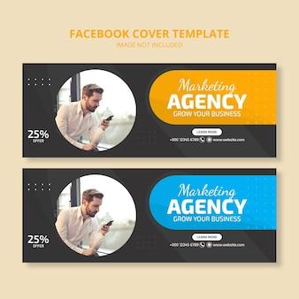 Bannière de couverture des médias sociaux de l'agence de marketing