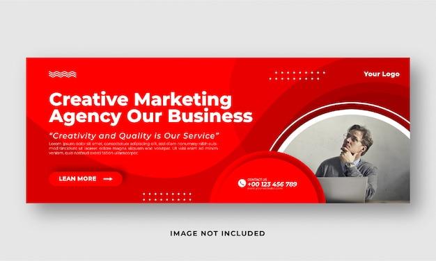 Bannière de couverture des médias sociaux marketing numérique