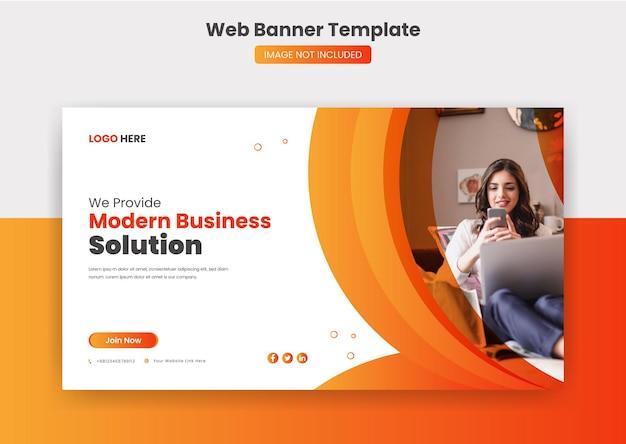 Bannière de couverture web d'entreprise et modèle de publication sur les médias sociaux miniature youtube