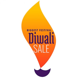 Bannière créative de vente de diwali en diya