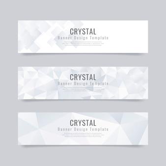 Bannière de cristal