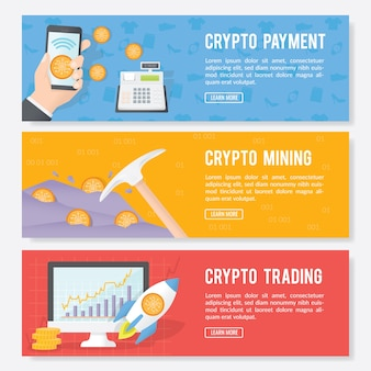 Bannière de crypto-monnaie