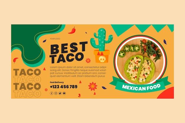 Bannière de cuisine mexicaine