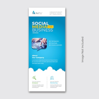 Bannière de cumul de médias sociaux