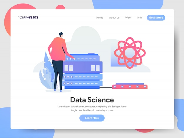 Bannière data science de la page de destination