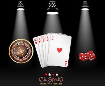 Bannière de casino avec la conception de casino Spotlight