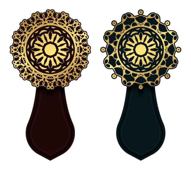 Bannière décorative de mandala de luxe