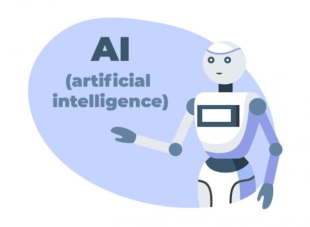 Bannière de découpe de présentation d'intelligence artificielle