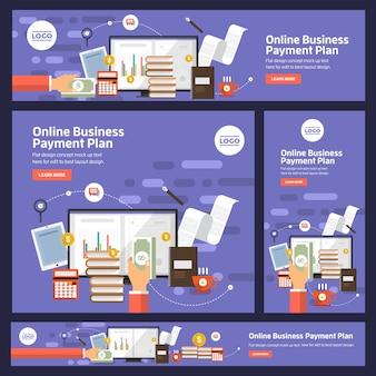 Bannière définie affaires numériques vectorielles