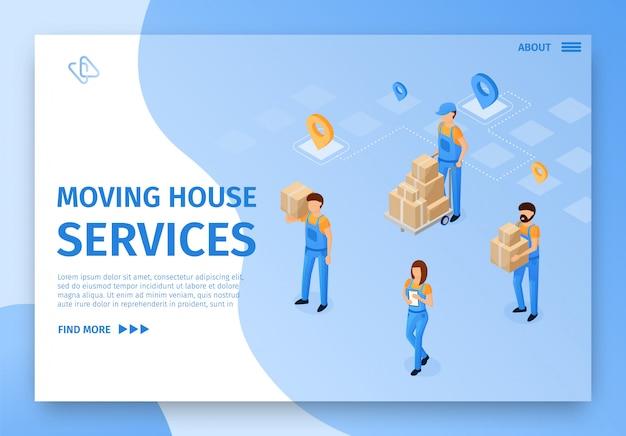 Bannière déménagement illustration vectorielle des services.