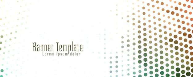 Bannière demi-teinte abstraite colorée