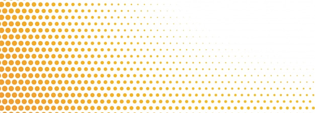Bannière de demi-teinte orange abstrait