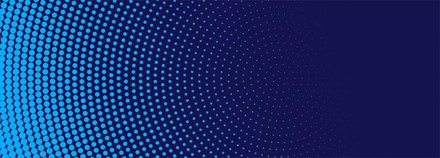 Bannière de demi-teintes bleu moderne
