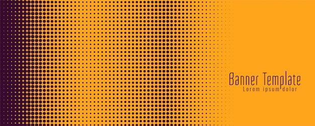 Bannière de demi-teintes lumineuse moderne