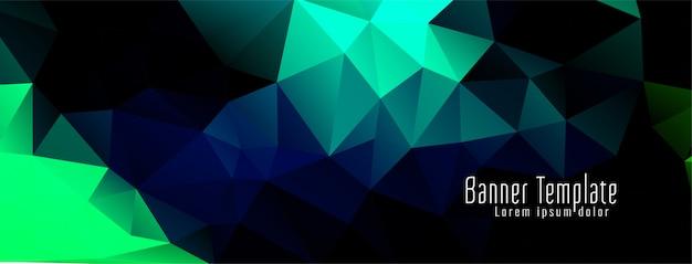 Bannière de design coloré abstrait polygone géométrique