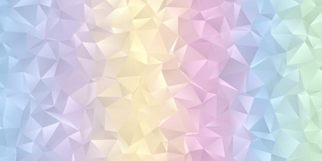 Bannière avec un design de couleur pastel low poly