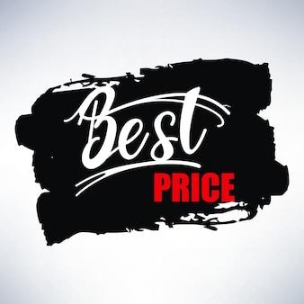 Bannière design avec lettrage meilleur prix. illustration vectorielle