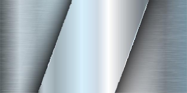 Bannière avec un design en métal brossé