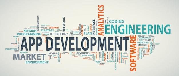 Bannière de développement d'application