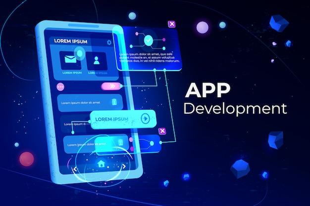 Bannière de développement d'applications