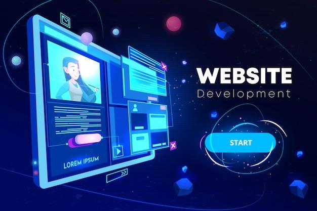 Bannière de développement de site web