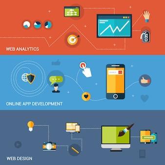 Bannière de développement web