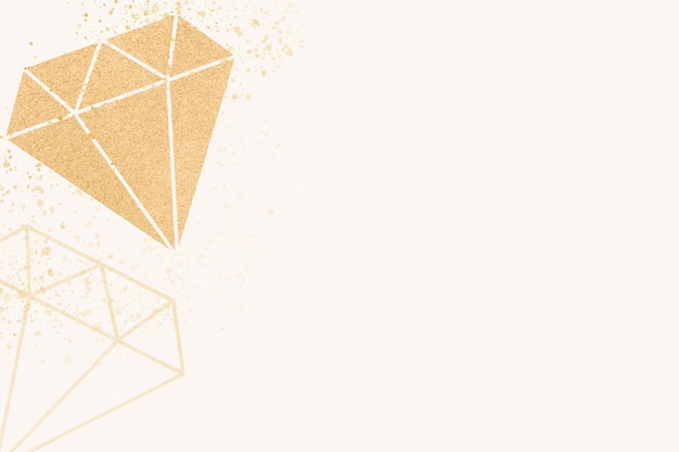 Bannière de diamant brillant