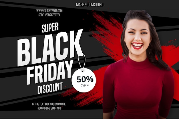 Bannière discount black friday moderne
