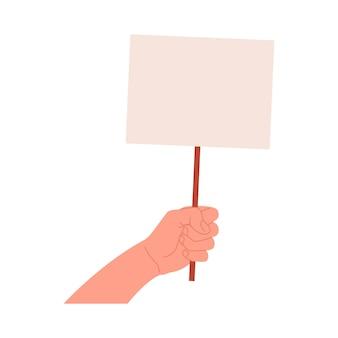 Bannière discriminatoire des droits de l'homme. illustration en style cartoon