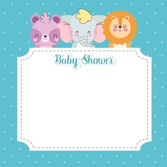 Bannière de douche de bébé