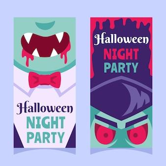 Bannière de dracula vampire halloween