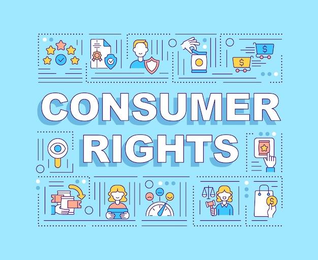 Bannière des droits des consommateurs