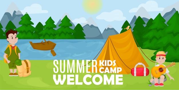 Bannière du camp d'été