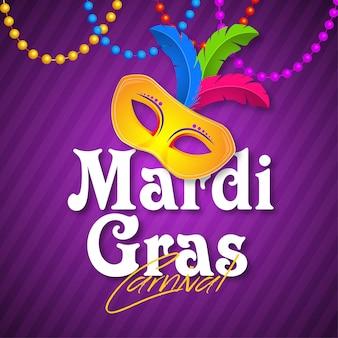 Bannière du carnaval de venise pour mardi gras
