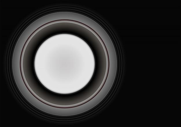 La bannière du cercle sur fond noir