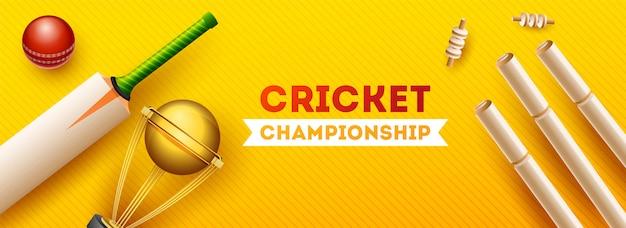 Bannière du championnat de la coupe de cricket.
