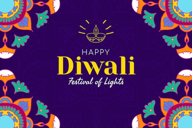 Bannière du festival diwali modèle