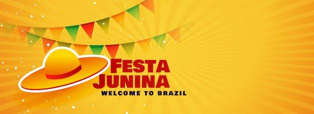 Bannière du festival festa junina au brésil