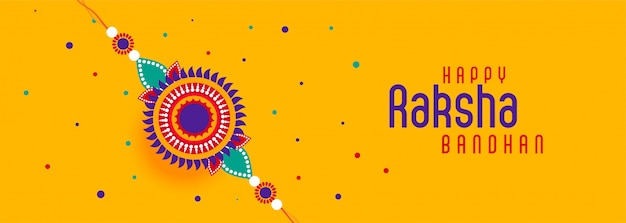 Bannière du festival joyeux raksha bandhan