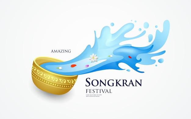 Bannière du festival songkran de thaïlande