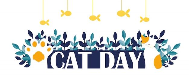 Bannière du jour du chat